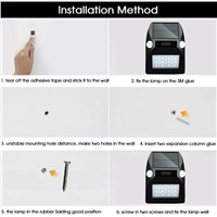 LED Solar Light Motion Sensor Garden 12 Led PIR Decoration Colorful Light Outdoor Street Wall Lamp Waterproof RGB Solar Lamps