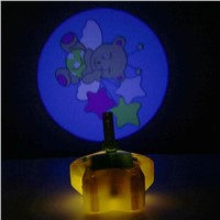 Baby Yellow Night Light Projector Starlight Star Dream show Musical Light Battery Power Cot Mobile Toys For Baby Top Gift