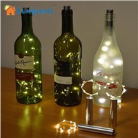 Lumiparty Warm white Bottle Lights LED Cork Shape String Lights for Bistro Wine Bottle Starry Bar Party Valentines battery power
