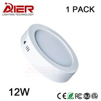 12W LED panel lights Round Surface Mounted Downlight lighting SMD2835 AC85-265V Ceiling lamp withdriver
