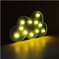 3D LED Night Light Indoor Wall Lamp for Children Baby Room Cute Cloud Star Moon RC Remote Controller Desk Table Lampara
