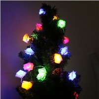 Coquimbo 20 LEDs Rose Flowers String Light Christmas Tree Decoration Holiday Flash LED Strip Lighting Used AA Battery LED Lamp