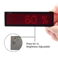 Red Color LED Badge Rechargeable USB Powered 5mm Pixels Moving Text Display Customized Business Card Tag Commercial Lighting