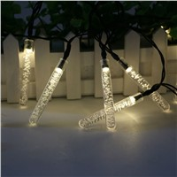 20 LED Solar Christmas Lights Waterproof Solar Fairy String Lights for Outdoor Garden Decoration Light White/Colorful/Warm White