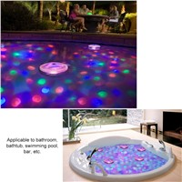 LEDGLE IP68 Waterproof 5 Modes Underwater Light Floating Underwater LED Disco Light Glow Show Swimming Pool Hot Tub Spa Lamp
