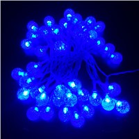 Outdoor LED String Ball Shaped Theme Fairy Light Battery Powered Christmas String For Holiday Wedding Party Decoration