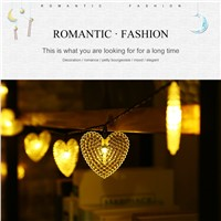20 LED Waterproof Heart Shaped Fairy Light String with Solar Panel Powered For Outdoor Garden Wedding Decoration