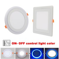 New Design Square/ Round LED Panel Downlight 5W 9W 16W 24W 3 Model LED Panel Lights AC85-265V Recessed Ceiling Painel Lights