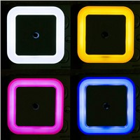 Mini LED Night Light Auto Sensor Control Bedroom Night Light Baby Bed Lamp EU Plug Square LED Night Light