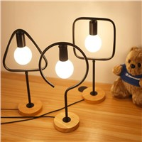 Nordic creative table lamp for bedroom bedside simple personality desk reading decorative LED table lamp