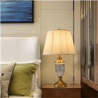 Modern European-Style Table Light AC 90-260V Luxury Crystal Table Lamp For Living Room Dining Room Bedroom Bedside Study Room
