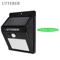 Waterproof Outdoor LED Solar Light Solar Power Panel PIR Motion Sensor lamp Garden Street Pathway Lighting Solar Lamp Wall Light