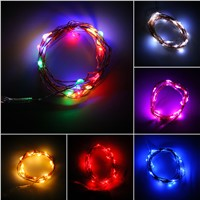 2M Button Battery Operated LED Copper Wire String Fairy Lights NEW