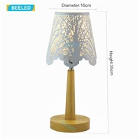 Table lamp for living room Table lamps for bedroom Night light White lampshade Wood lamp Home decorations for living room