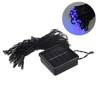 Solar Christmas String Light Wedding Party Xmas Garden Fairy Lights Blue 7.5m 60LED