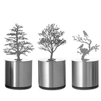 Pine Tree Romantic LED Shadow Creative 3D lamp Projector Candle Bedroom Night Light desk table Lamp Kid Chidren Gift IY303175