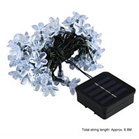 50 LED Solar String Lights with Solar Panel Waterproof Fairy Light String for Outdoor Christmas Home Party Bedroom Decor