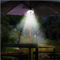 48 LED Outdoor Umbrella Night Light White Lamp Pole Light Patio Yard Garden Lawn Lamp NEW ARRIVAL