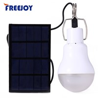 FREEJOY Solar panel Powered Portable LED bulb LED Solar Lamp Solar Power LED Light Outdoor Solar Lamp Spotlight Garden Light