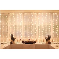 3M*3M/9.8ft*9.8ft Remote Control Curtain Lights LED String Fairy Light Window Icicle Backdrop Lights for Bedroom, Wedding, Party