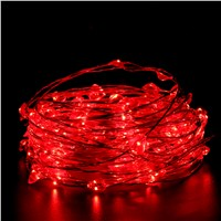 10M 100 LEDs Copper Wire LED String lights Holiday LED Strip lighting For Fairy Christmas Tree Wedding Party Decoration lamp