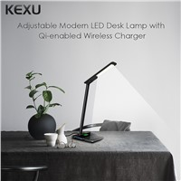 KEXU 2 in 1 Safety Ingert Series LED Desk Lamp QI Wireless Charger Universal for iPhone for Samsung S8 Plus EU/US Plug Adaptor