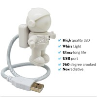 New Updated Mini Fashion Astronaut Spaceman USB LED Adjustable Night Light For Computer Laptop PC Notebook Portable Reading
