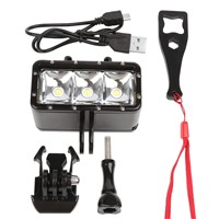 Shoot Waterproof LED Diving Light for Go pro Hero 5 3 4 h9 SJCAM SJ4000 Snorkel Light Underwater  AKASO Camera Yi 4K Accessories