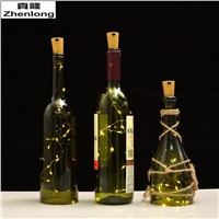 Wine Bottle Cork Lights 20Leds DIY Micro LED Bottle Stopper String Lights Decoration Light Christmas Lighting starry nightlight