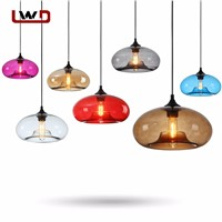Modern Colorful Pendant Lamps Restaurant Coffee Bedroom Pendant Lights Stained Glass Lamp Light Modern Bar Pendant Lights