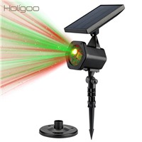 Holigoo Solar Powered Laser Light Outdoor Waterproof Spotlight Christmas Laser Lights Landscape For Garden Party Yard Decoration