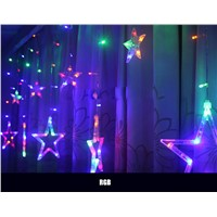 LED Star String Lights 2M 138leds 8 Mode AC 110-220V Romantic Curtain Lighting For Holiday Wedding Garland Party Decoration