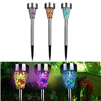 3pcs/lot Solar LED Lawn light Garden Yard Solar Lamps Path LED Solar Lights Waterproof Outdoor LED Stake Spotlight lawn lamp
