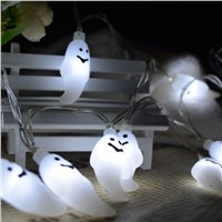 LED Lamp String Ghost Holiday Halloween Luminous Lanterns String Light Decors