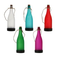 Solar Wine Bottle Light Outdoor Garden Simple Wine Bottle Lamp Halloween Party Christmas Tree Decoration Light Energy Saving