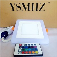 YSMHZ LED Panel Light Remote Control Dimming Colors Round Square Shape 3W 6W 12W 100-265V LED Panel Light