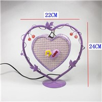 Heart Shape E14 Night light Iron Reading Table Desk Lamp for Bedroom Night Lamp Home Decoration Romantic lightings for Kids Gift