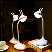 New Energy Saving Rabbit USB Lamp Touch LED Eyeshield Children Cartoon Light Table Night Lamp Rabbit rechargeable led touch lamp