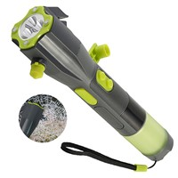 703B Multi-functional Car Emergency Hand Cranking Flashlight Safety Hammer