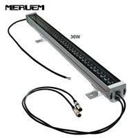 0.5M/1m 18/24/36/48W LED Wall Washer Landscape light AC 85V-265V/DC24V outdoor lights RGB DMX512 wall linear lamp floodlight