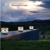 Modern simple outdoor column head lights, courtyard wall lights