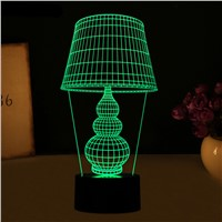LED Desk Lamp with Touch Button 3D Lamp USB 3D LED Night Light as Home Art Decoration Lights 5V for Notebook Computer PC Power