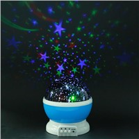 LED Rotating Projector Starry Night Lamp Projection  Lights Christmas Birthday Business Gift With USB Or Battery Powered