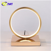 Modern White/Gold Table Lamp Round Acrylic Decorative Lampadas Table Lights for Bedroom Bedside Lamp Living Room Study Desk Lamp