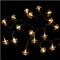 4.2m 40 LED Waterproof Flower Fairy String Light Battery Operated Xmas Party Decor
