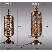 LOFT bronze table lamp originality retro lighting dining room bedroom living room bedroom die-casting desk lamps ZA8300