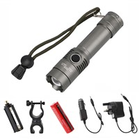 Rechargeable T6 LED tactical flashlight Torch Waterproof lamp Zoomable Flashlight lanterna led lighting +battery+AC/Car charger