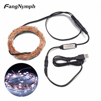 FangNymph USB 5V LED String Christmas Lights 5M/10M 50/100 leds Waterproof String Lights for Home Wedding Decoration