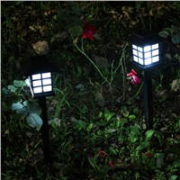 1 PC Solar lawn Pathway Lights Diamond  Plastic LED Lights for Outdoor Path Patio Yard Deck Driveway Garden Fairy Wedding Decor