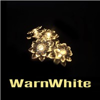 New LED lotus flower  Battery Powered Holiday LED String Lights High quality for Christmas Tree Wedding Party Living Room Dec